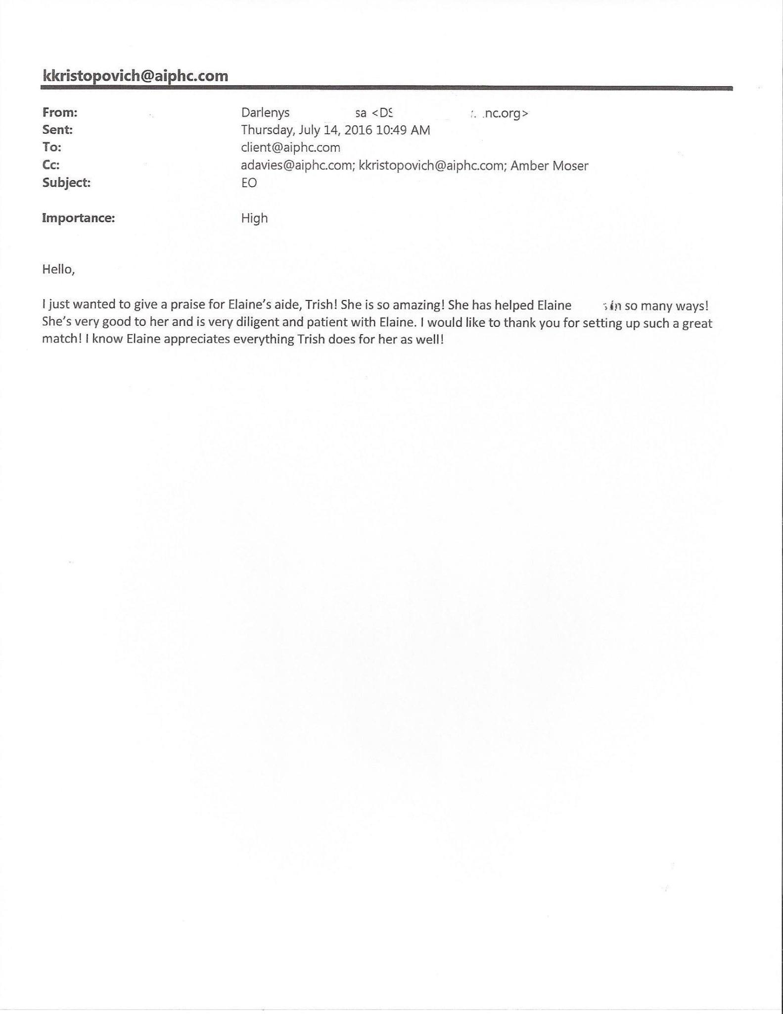 Darlenys - AIPHC Testimonial