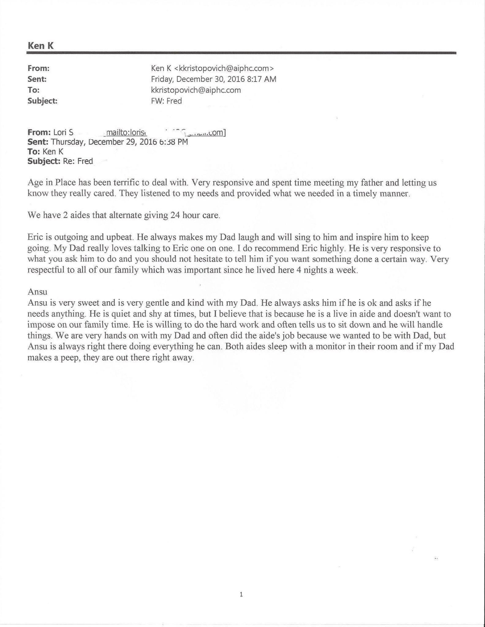 AIPHC - Lori Testimonial