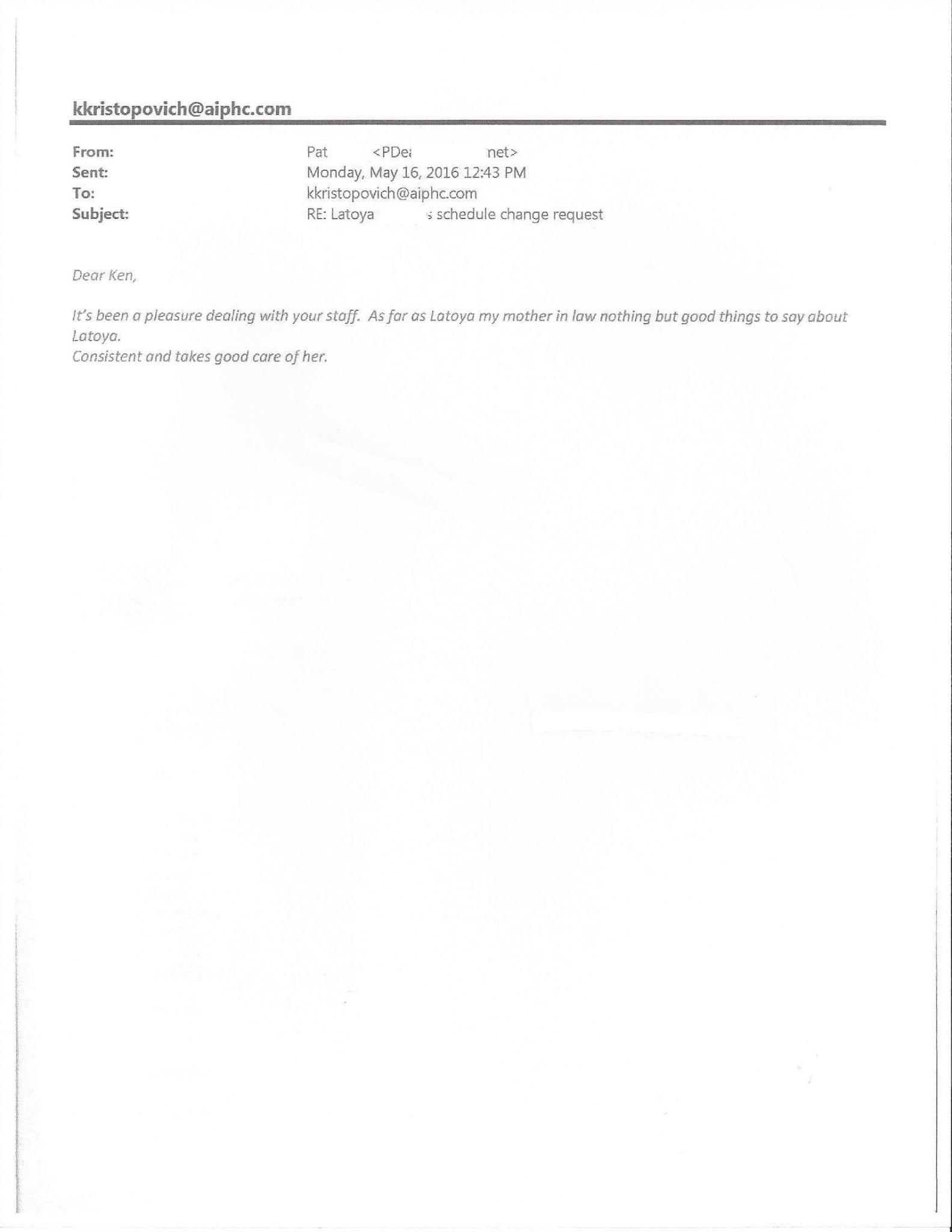 Pat - AIPHC Testimonial